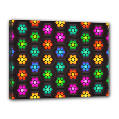 Pattern Background Colorful Design Canvas 16  x 12