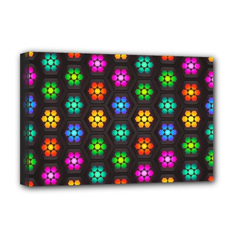 Pattern Background Colorful Design Deluxe Canvas 18  x 12