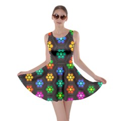 Pattern Background Colorful Design Skater Dress