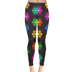 Pattern Background Colorful Design Leggings