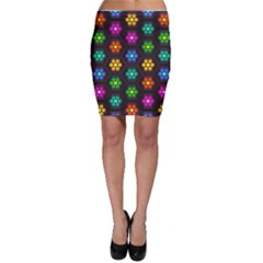 Pattern Background Colorful Design Bodycon Skirt