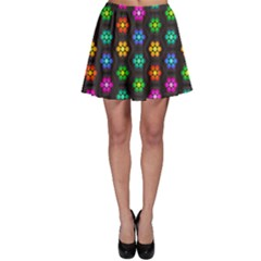 Pattern Background Colorful Design Skater Skirt