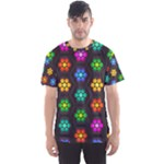 Pattern Background Colorful Design Men s Sport Mesh Tee