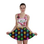 Pattern Background Colorful Design Mini Skirt