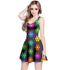 Pattern Background Colorful Design Reversible Sleeveless Dress