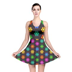 Pattern Background Colorful Design Reversible Skater Dress