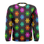 Pattern Background Colorful Design Men s Long Sleeve Tee