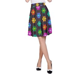 Pattern Background Colorful Design A-Line Skirt