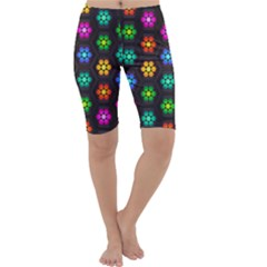 Pattern Background Colorful Design Cropped Leggings