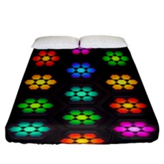 Pattern Background Colorful Design Fitted Sheet (King Size)