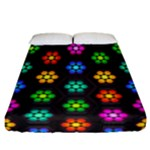 Pattern Background Colorful Design Fitted Sheet (California King Size)