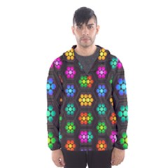 Pattern Background Colorful Design Hooded Wind Breaker (Men)