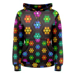 Pattern Background Colorful Design Women s Pullover Hoodie