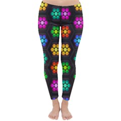 Pattern Background Colorful Design Classic Winter Leggings