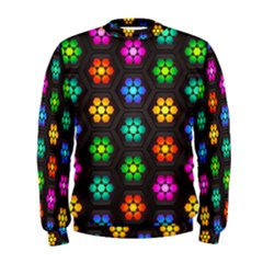 Pattern Background Colorful Design Men s Sweatshirt
