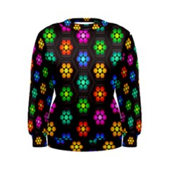 Pattern Background Colorful Design Women s Sweatshirt