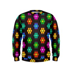 Pattern Background Colorful Design Kids  Sweatshirt