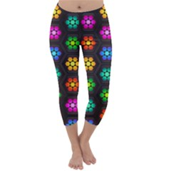 Pattern Background Colorful Design Capri Winter Leggings