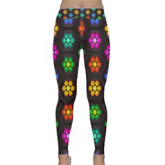 Pattern Background Colorful Design Classic Yoga Leggings