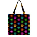 Pattern Background Colorful Design Zipper Grocery Tote Bag