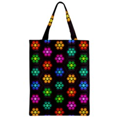 Pattern Background Colorful Design Zipper Classic Tote Bag
