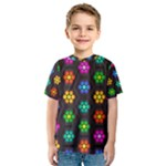 Pattern Background Colorful Design Kids  Sport Mesh Tee