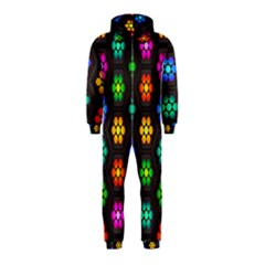 Pattern Background Colorful Design Hooded Jumpsuit (Kids)