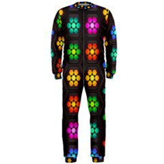 Pattern Background Colorful Design OnePiece Jumpsuit (Men)