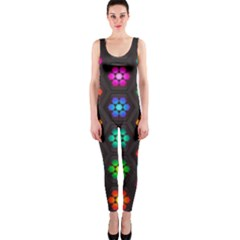 Pattern Background Colorful Design OnePiece Catsuit