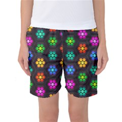 Pattern Background Colorful Design Women s Basketball Shorts