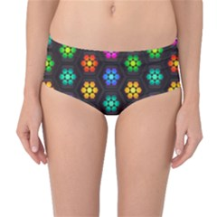 Pattern Background Colorful Design Mid-Waist Bikini Bottoms