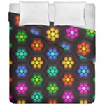 Pattern Background Colorful Design Duvet Cover Double Side (California King Size)