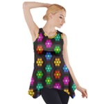 Pattern Background Colorful Design Side Drop Tank Tunic