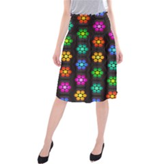 Pattern Background Colorful Design Midi Beach Skirt