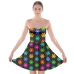 Pattern Background Colorful Design Strapless Bra Top Dress