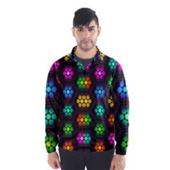 Pattern Background Colorful Design Wind Breaker (Men)