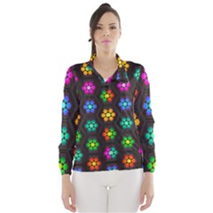 Pattern Background Colorful Design Wind Breaker (Women)