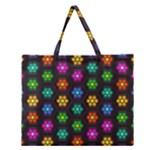 Pattern Background Colorful Design Zipper Large Tote Bag
