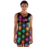 Pattern Background Colorful Design Wrap Front Bodycon Dress