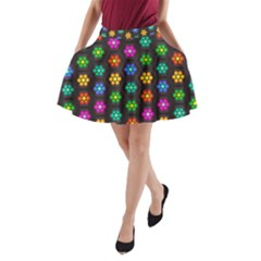 Pattern Background Colorful Design A-Line Pocket Skirt