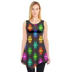 Pattern Background Colorful Design Sleeveless Tunic