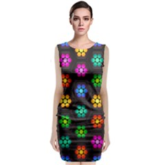 Pattern Background Colorful Design Classic Sleeveless Midi Dress