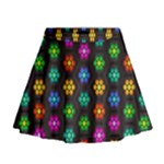 Pattern Background Colorful Design Mini Flare Skirt