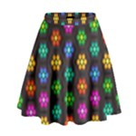 Pattern Background Colorful Design High Waist Skirt