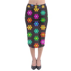 Pattern Background Colorful Design Midi Pencil Skirt