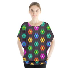 Pattern Background Colorful Design Blouse