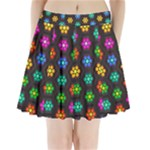 Pattern Background Colorful Design Pleated Mini Skirt