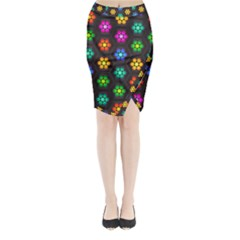 Pattern Background Colorful Design Midi Wrap Pencil Skirt
