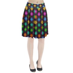 Pattern Background Colorful Design Pleated Skirt
