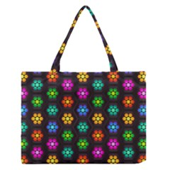 Pattern Background Colorful Design Medium Zipper Tote Bag